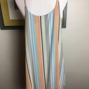 Dolan Striped Layered Dress - Size Lg